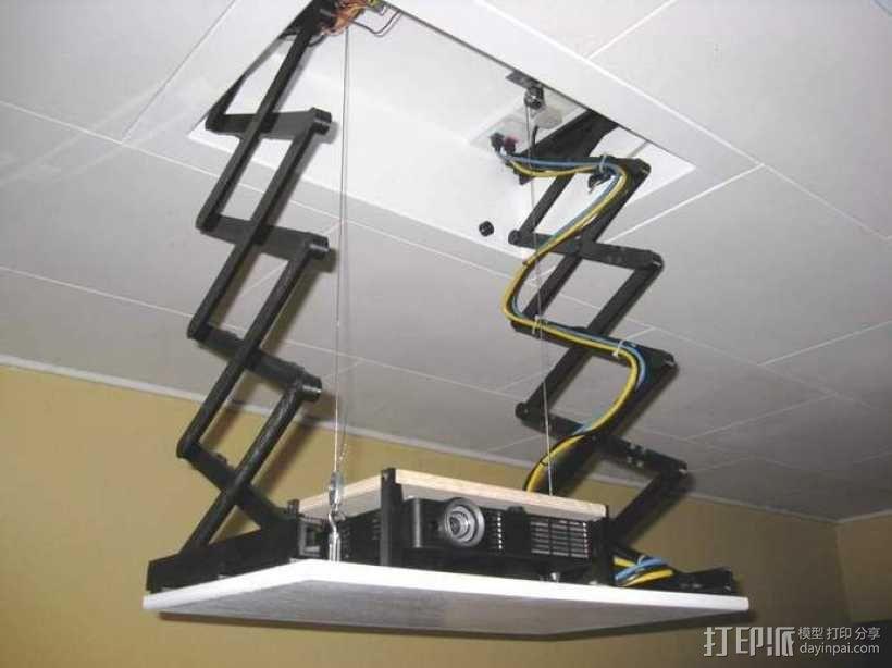 剪刀式升降机 3D模型  图1