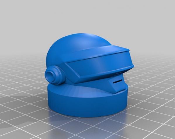 朋克头盔适配器 3D模型  图2