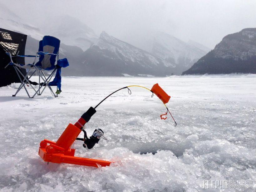 自动钓鱼竿 3D模型  图1