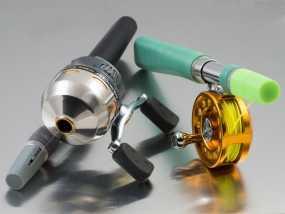 便携式鱼竿 3D模型