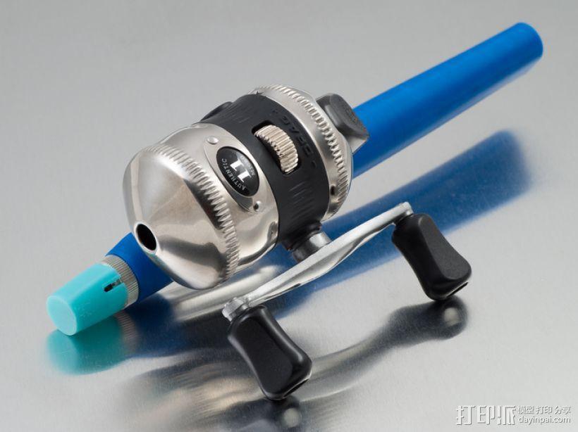 便携式鱼竿 3D模型  图2
