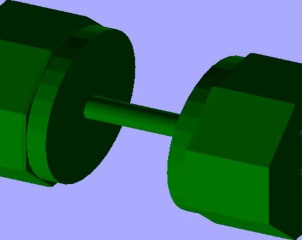 杠铃 哑铃 3D模型  图2