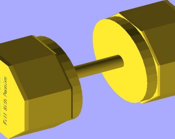 杠铃 哑铃 3D模型  图3
