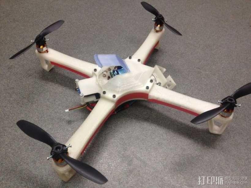 四翼飞行器 3D模型  图1