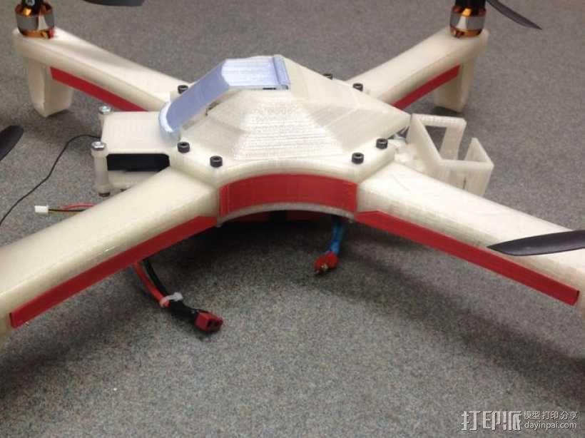 四翼飞行器 3D模型  图5