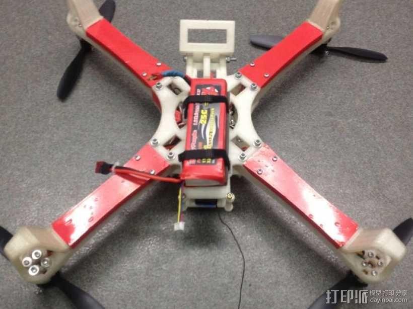 四翼飞行器 3D模型  图4