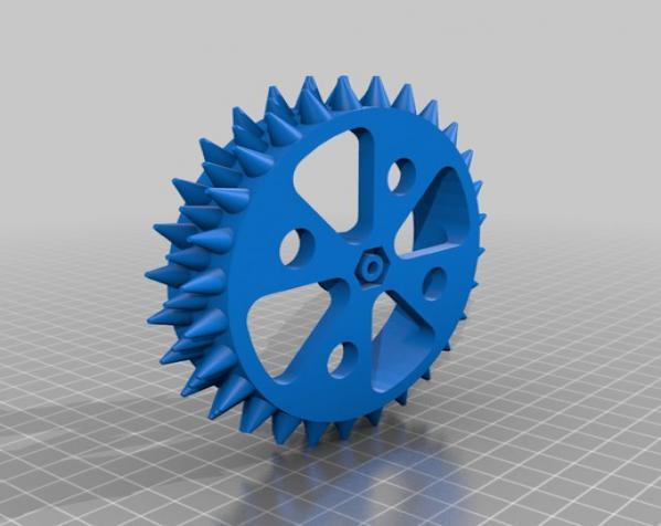 防滑车轮 3D模型  图3