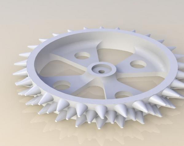 防滑车轮 3D模型  图2