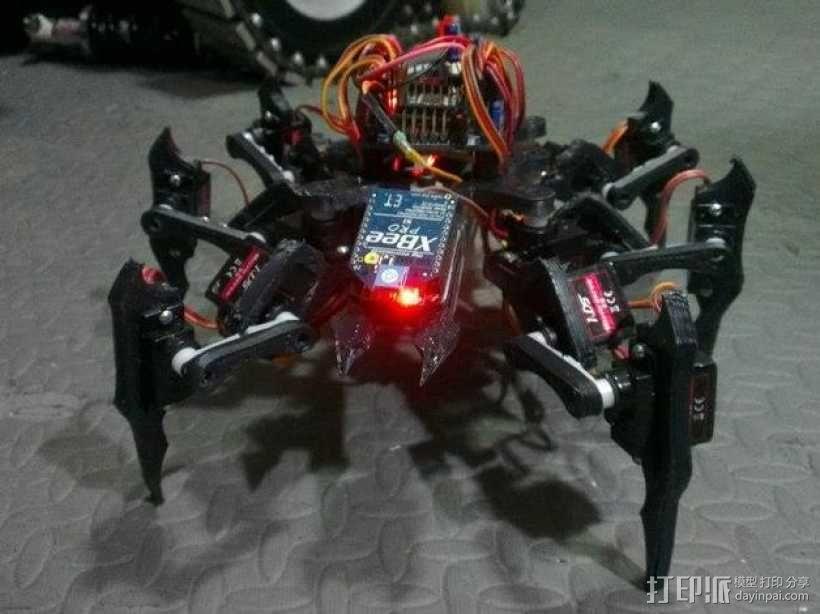 六足虫机器人 3D模型  图1