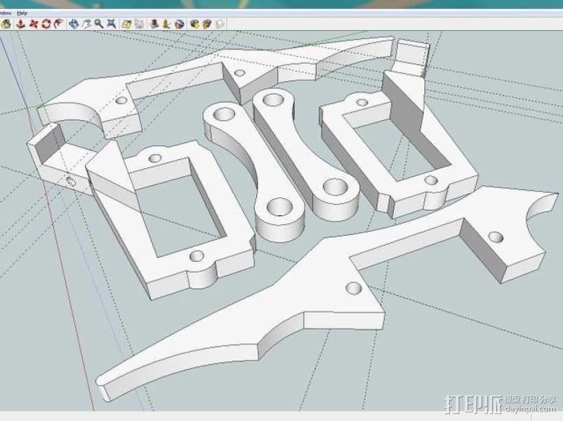 六足虫机器人 3D模型  图2