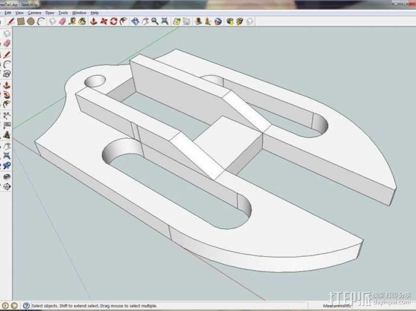 六足虫机器人 3D模型  图4
