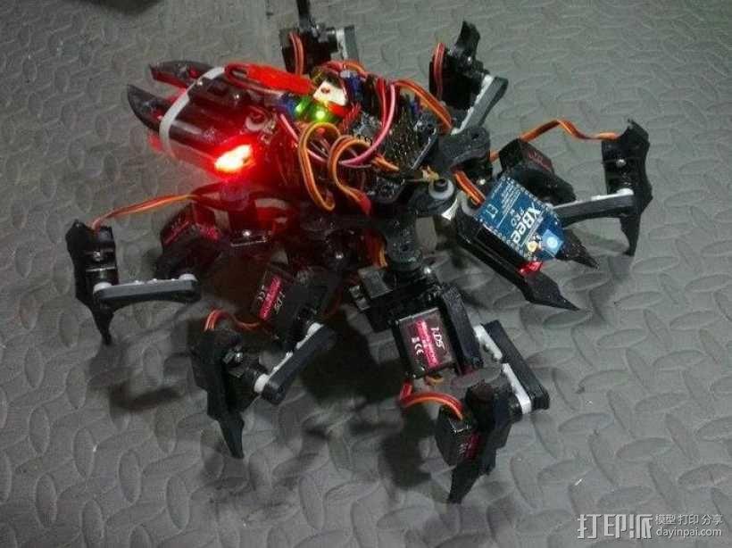 六足虫机器人 3D模型  图13