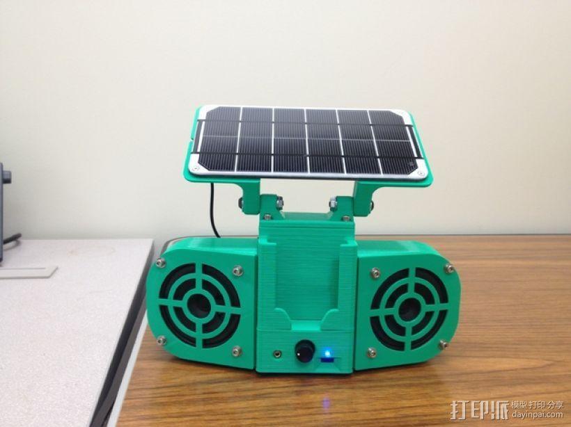 太阳能立体声音响 3D模型  图1