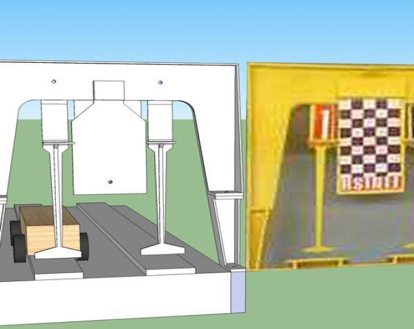 赛车车道 车道门 3D模型  图2