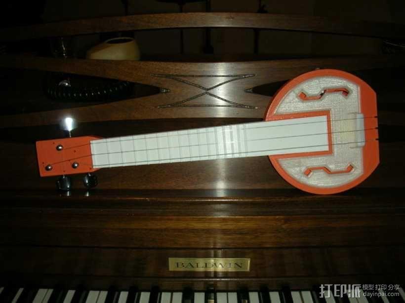 电吉他 3D模型  图1