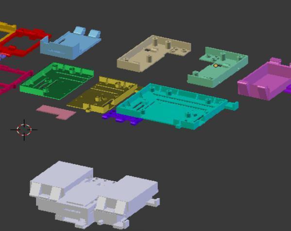 树莓派控制器外壳 3D模型  图3