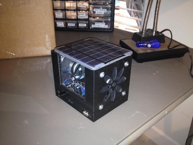 迷你太阳能小盒子 3D模型  图1