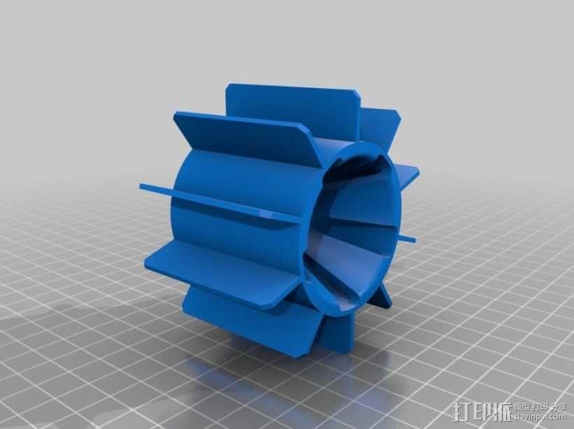 个性化遥控赛车轮子 3D模型  图4