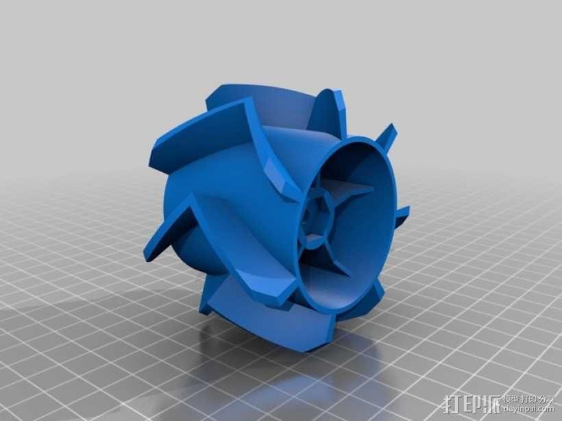 个性化遥控赛车轮子 3D模型  图6