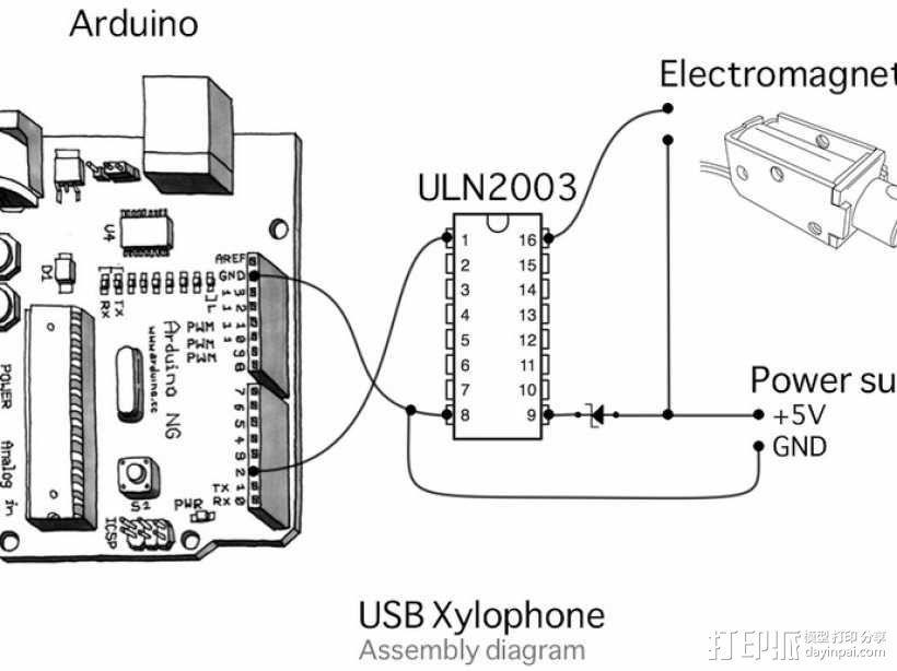 USB木琴 3D模型  图6