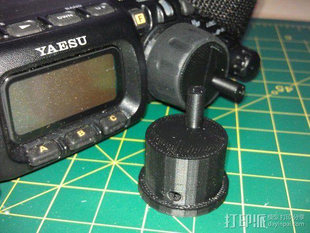 参数化FT-817收音机旋转把手 3D模型  图2