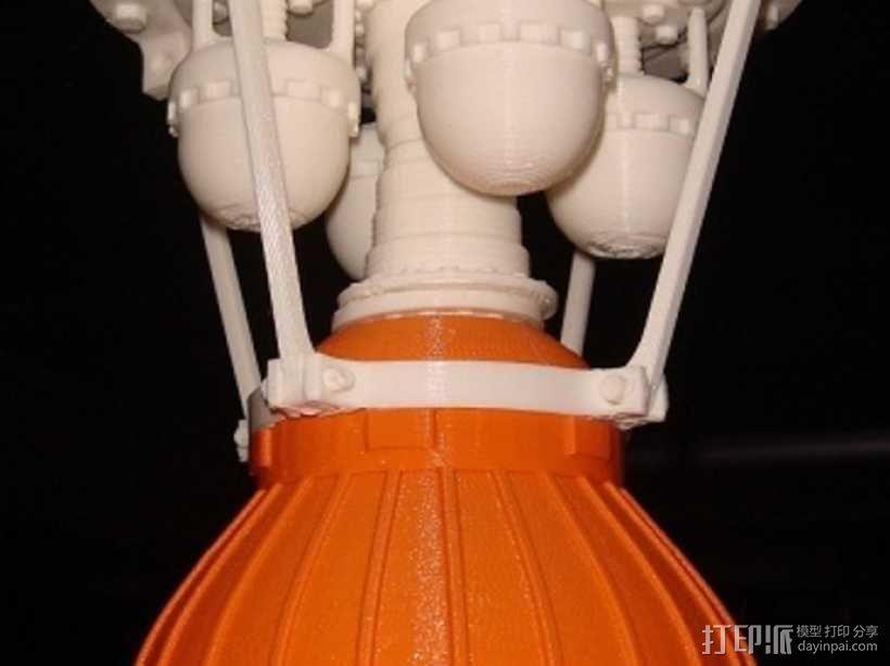 火箭发动机  模型 3D模型  图1