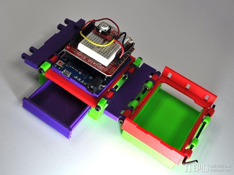 可折叠Arduino电路板外壳 3D模型  图1