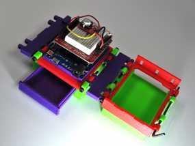 可折叠Arduino电路板外壳 3D模型
