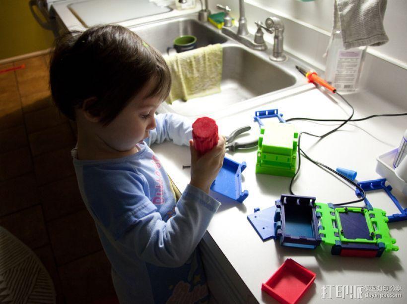 可折叠Arduino电路板外壳 3D模型  图3