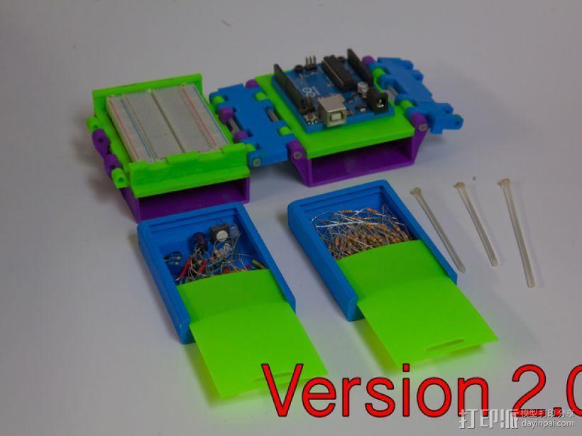 可折叠Arduino电路板外壳 3D模型  图5