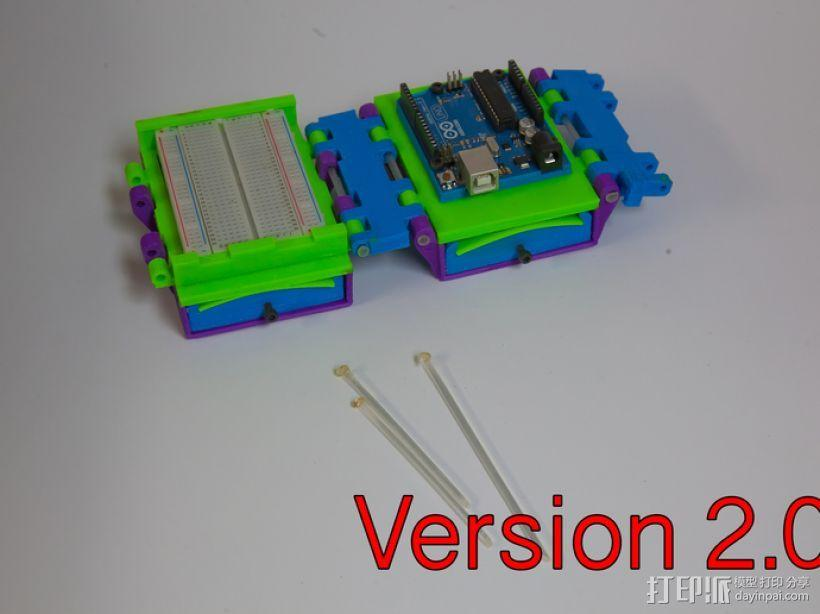 可折叠Arduino电路板外壳 3D模型  图6