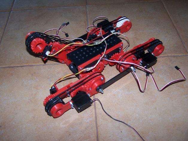 D-Track移动机器人 3D模型  图1
