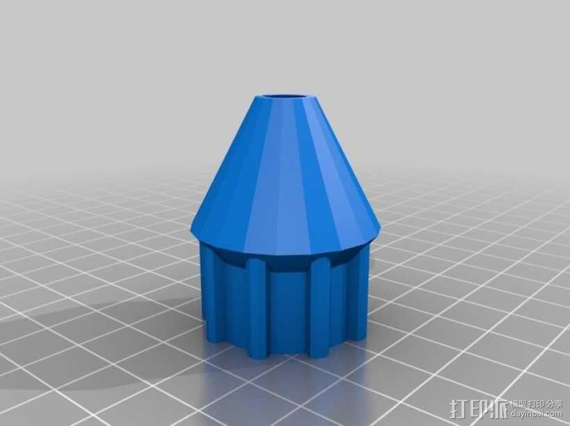 套筒螺母保护罩 3D模型  图2