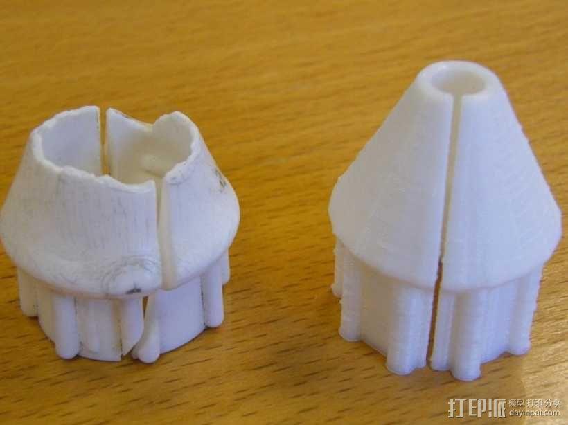 套筒螺母保护罩 3D模型  图1