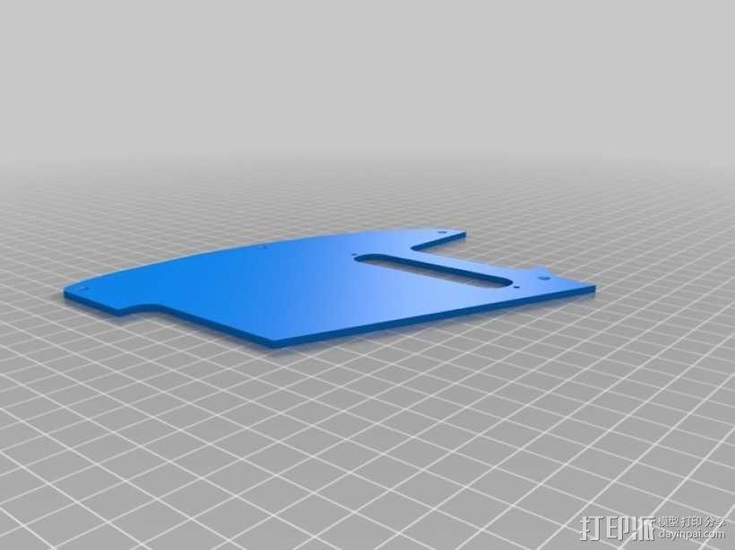 吉他护板 3D模型  图2