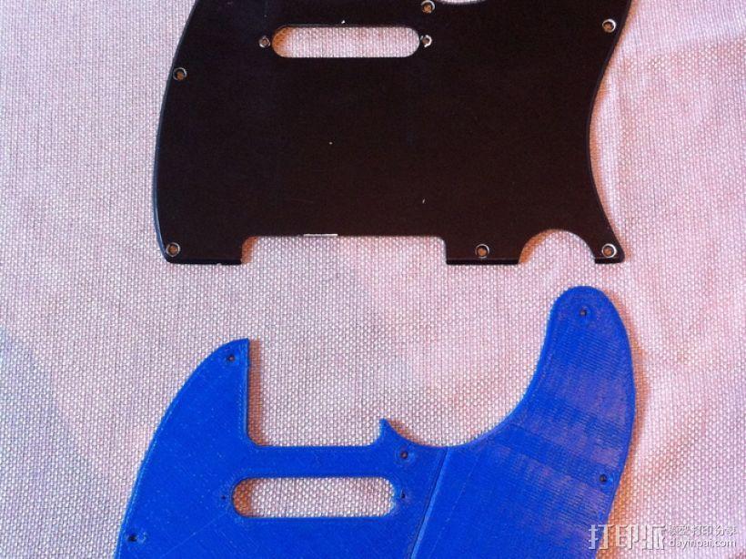 吉他护板 3D模型  图5