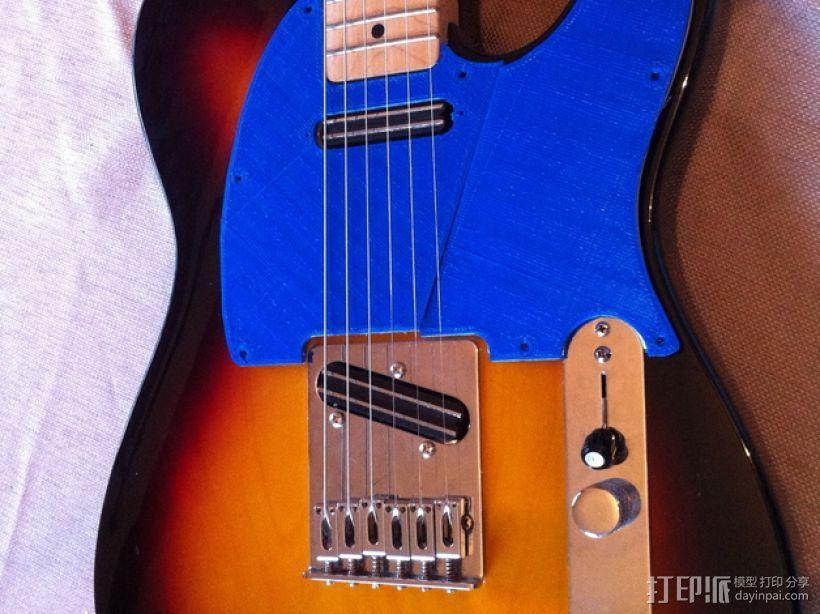 吉他护板 3D模型  图4