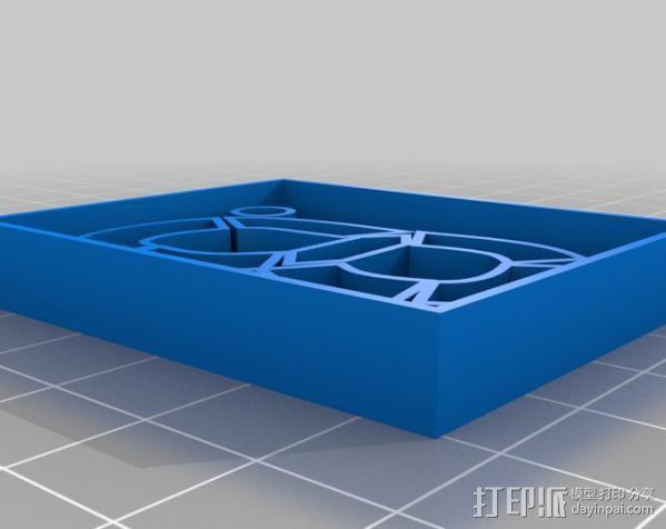 LED灯面板 3D模型  图1