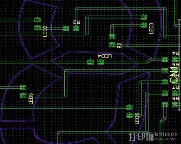LED灯面板 3D模型  图5