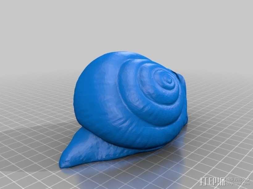 蜗牛混音带 3D模型  图1