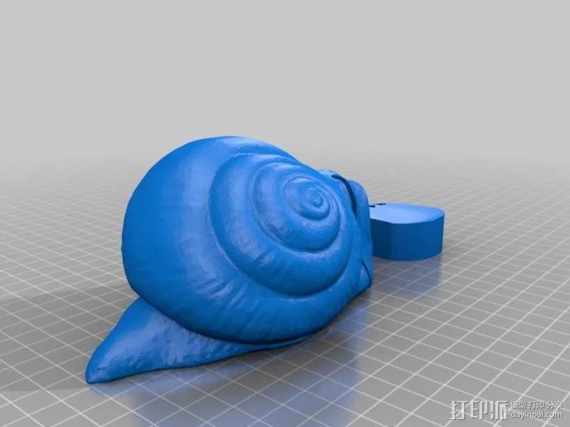 蜗牛混音带 3D模型  图4
