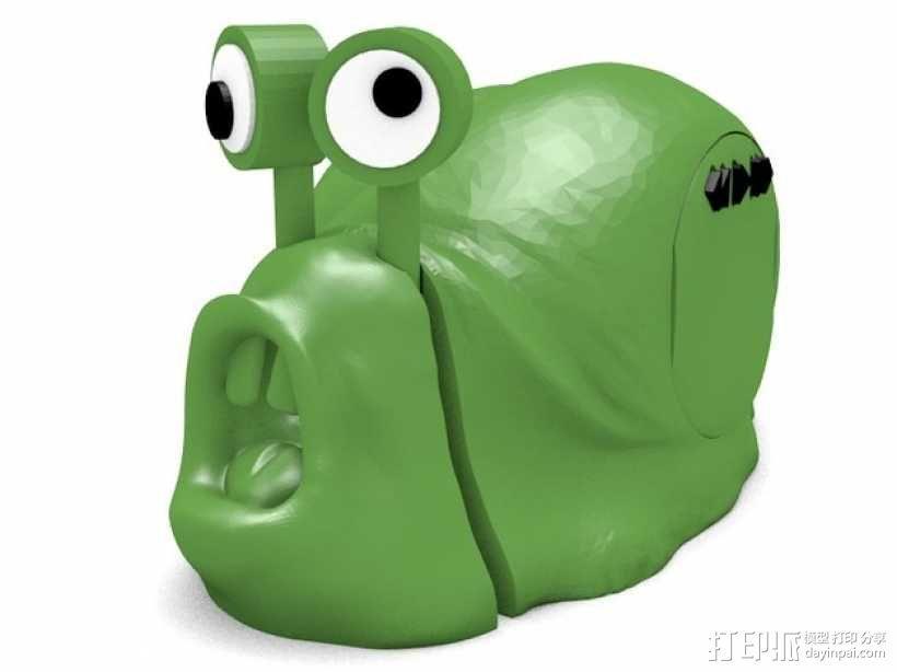 蜗牛混音带 3D模型  图5
