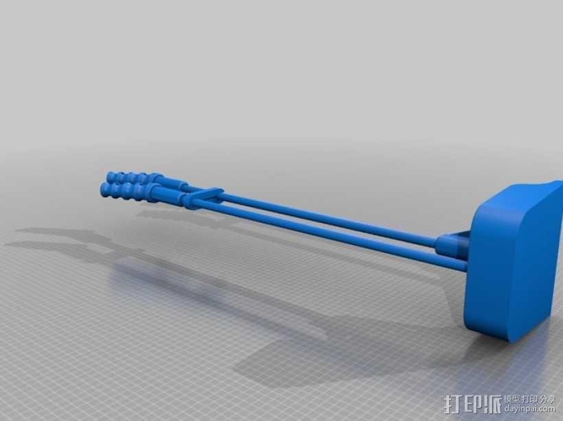 长柄粪铲 3D模型  图1