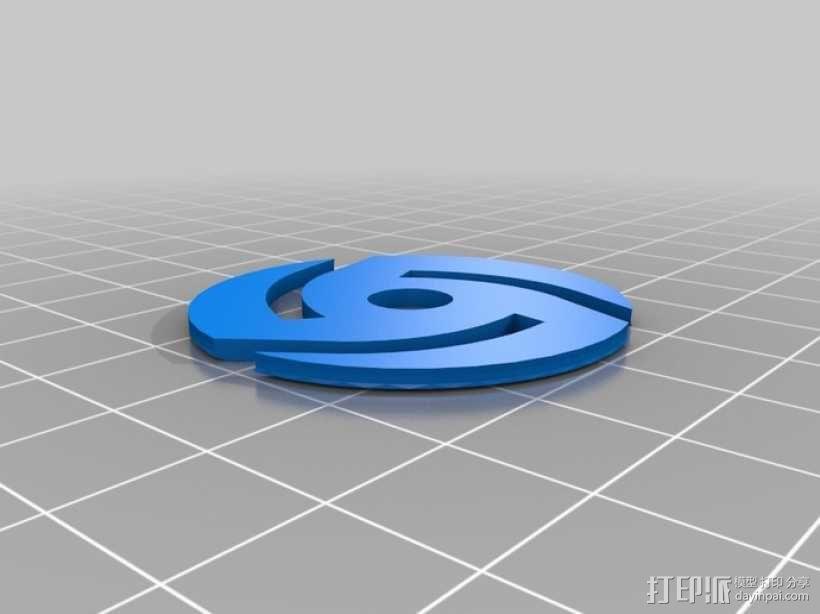 唱机转盘配适器 3D模型  图1