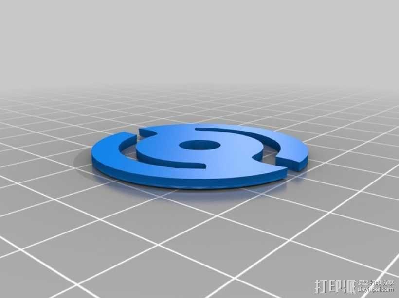 唱机转盘配适器 3D模型  图2