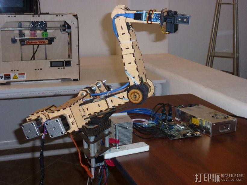 四轴机械手臂 3D模型  图1