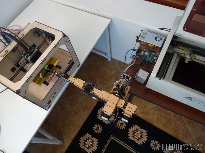 四轴机械手臂 3D模型  图4