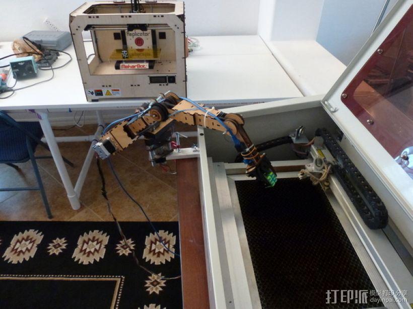 四轴机械手臂 3D模型  图7
