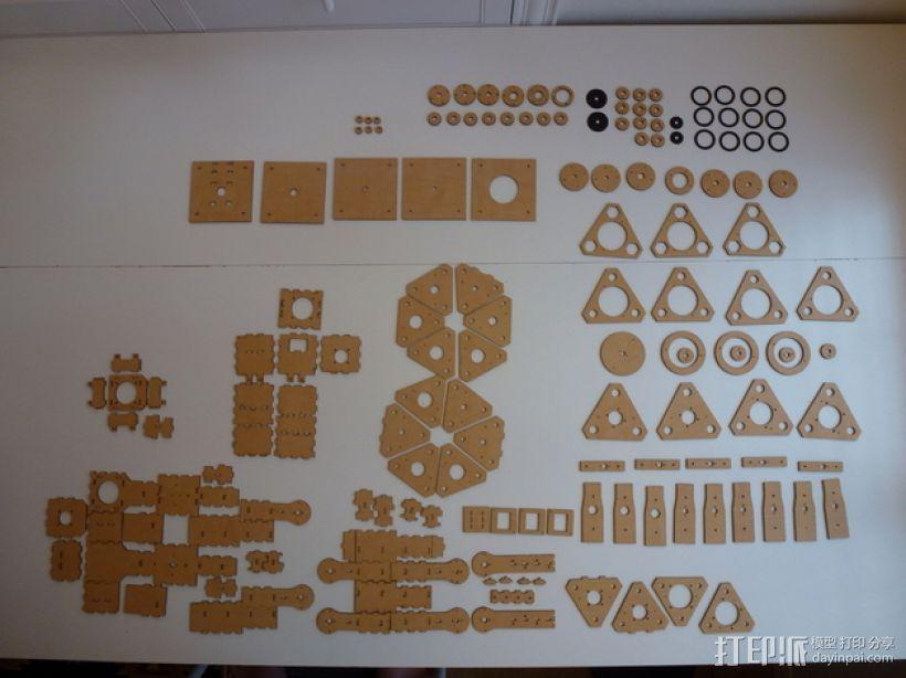 四轴机械手臂 3D模型  图9