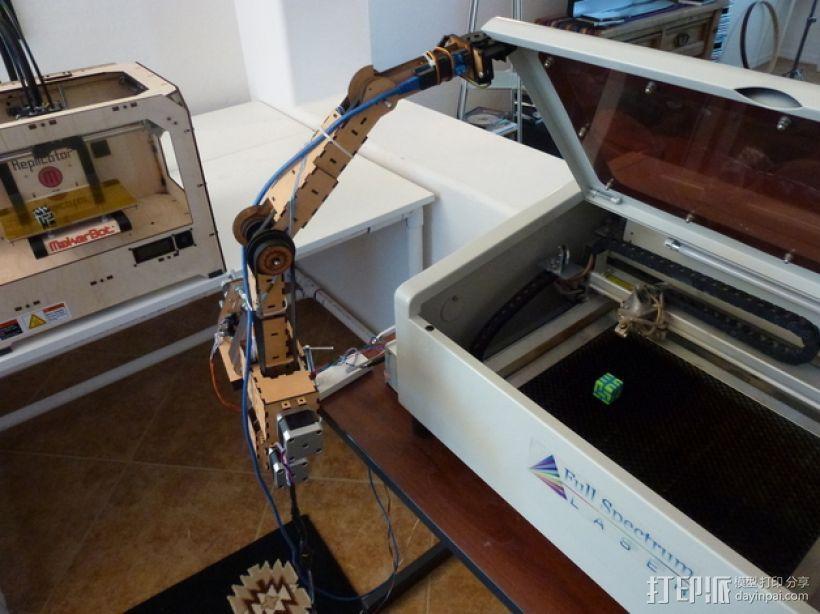 四轴机械手臂 3D模型  图8